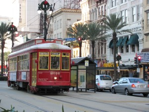 A trolley on Canal Street